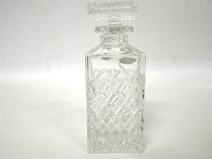 Antique Bohemia 24% Pbo Lead Crystal Decanter Czech Republic Whiskey Decanter