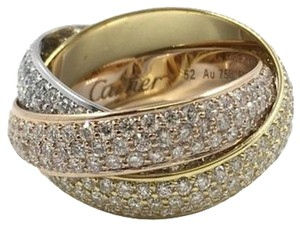 Cartier Cartier Trinity Large Model with Diamonds 4.64 Carats | Box and Papers | Size 6 - 6.25