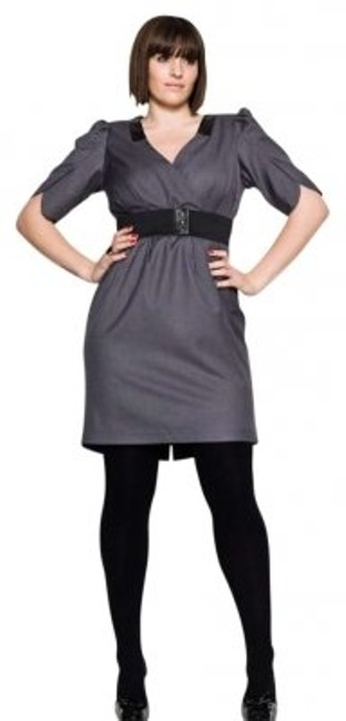 Preload https://img-static.tradesy.com/item/165426/carmakoma-grey-and-black-bluebird-knee-length-workoffice-dress-size-20-plus-1x-0-0-650-650.jpg