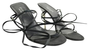 Gucci Black Silver Sandals