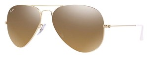 Ray-Ban Ray-Ban RB3025 001/3K 58-14 Gold Aviator Unisex Sunglasses