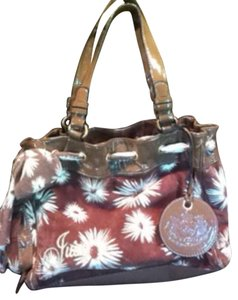 Juicy Couture Satchel in Brown/White