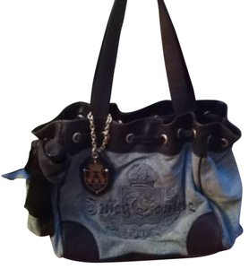 Juicy Couture Satchel in Blue/Brown
