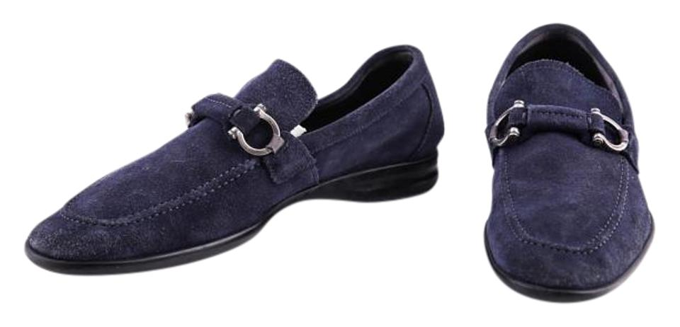 8ae308697681b Salvatore Ferragamo Blue Suede Tangeri Loafer Formal Shoes Size US ...