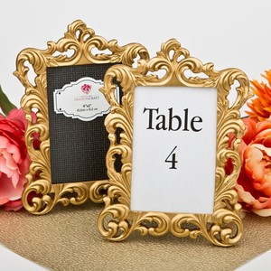 (10) Baroque Gold Metallic 4 X 6 Picture Or Table Number Frame