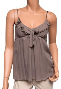 Gold Hawk Silk Nwt Top Taupe