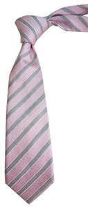 Hugo Boss BOSS BY HUGO BOSS HERRING BONE EMBOSS PINK SILK TIE