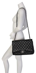 Chanel Jumbo Leather Shoulder Bag
