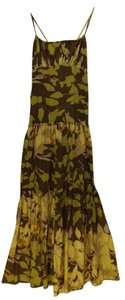 brown/yellow Maxi Dress by BCBG Floral Max Azria