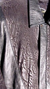 Vera Pelle Leather Reptile Leather Jacket