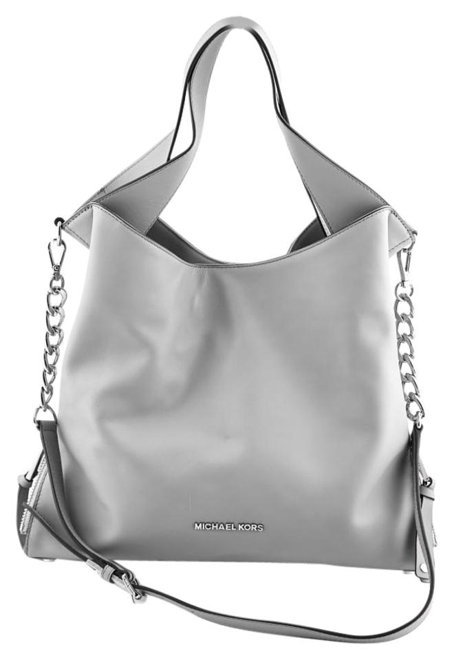 ce439efcae26 Michael Kors Devon Tote Purse New Gray Smooth Leather Shoulder Bag ...