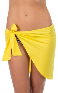 Just Cavalli Brand New Just Cavalli Yellow Beach Sarong Cover-Up Self-Tie Pareo One Size