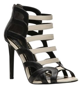 Enzo Angiolini Black and white leather Sandals