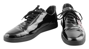 Bally Patent Leather Rose Gold Sneakers black Athletic