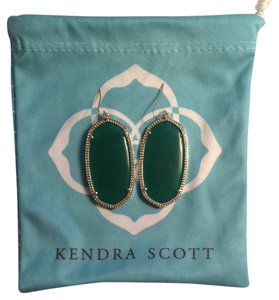 Kendra Scott Danielle Earrings In Green