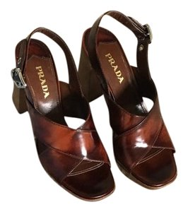 Prada Tobacco brown Sandals