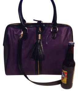 Steve Madden Satchel in Purple/black/grey