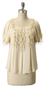 Leifsdottir Silk Short Sleeve Top Ivory