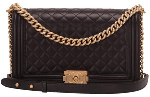fecf91f0b15 Added to Shopping Bag. Chanel Shoulder Bag. Chanel Boy Quilted Lambskin New  Medium Black ...