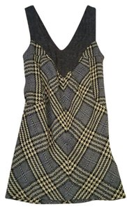 Free People short dress gray plaid Houndstooth Wool on Tradesy