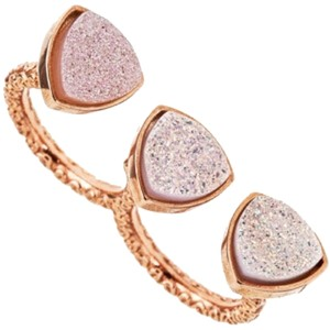 Dara Ettinger Mimi Two Finger Rose Gold Druze Ring
