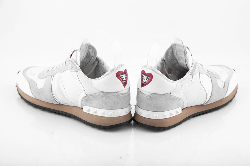 high fashion official in stock Valentino White L L'amour Rockrunner Sneakers Size US 7.5 Regular ...