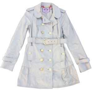 Juicy Couture Trench Skirted Trench Ruffle Trench Coat