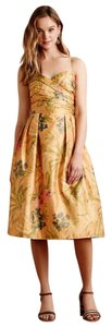 Anthropologie short dress Yellow Floral Party Vintage Jacquard on Tradesy