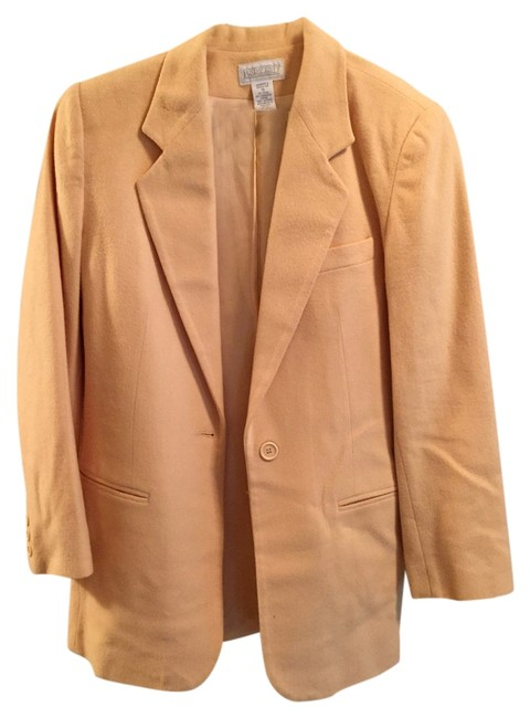 Preload https://item1.tradesy.com/images/lands-end-pale-yellow-blazer-size-10-m-1654565-0-0.jpg?width=400&height=650