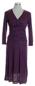 Purple Maxi Dress by Boden Super Soft Knit Printed