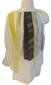 Helmut Lang Top White and yellow design