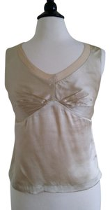 Laura Petites Silk Sleeveless Cami Top Gold / champagne