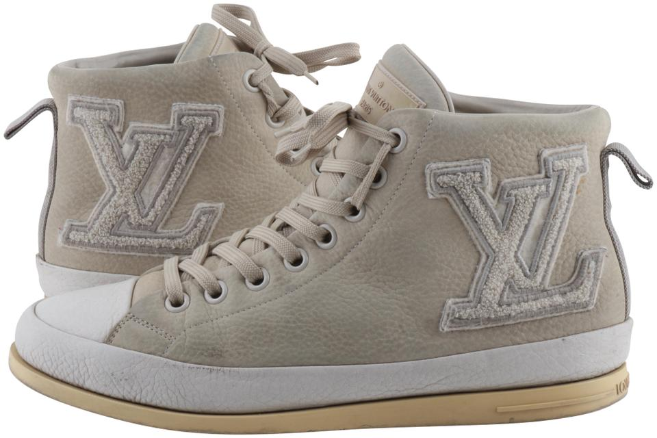 869b153c6798 Louis Vuitton Grey Fastball Suede High Top Sneakers Sneakers Size US ...