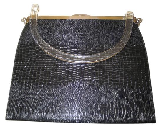 Other Vintage Satchel in Black with silver tone Trim