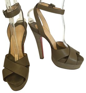 Christian Louboutin High Heels Summer Grey Sandals
