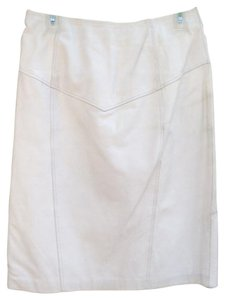 Byrnes & Baker Leather Designer & Vintage Skirt White