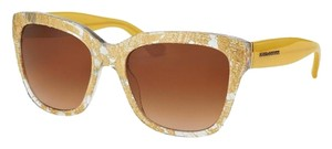 Dolce&Gabbana Dolce-Gabbana DG4226-285113 Women's Gold Frame Sunglasses New In Box