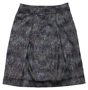 Burberry Metallic Grey Black Olive Blue Skirt