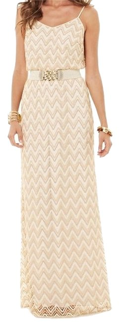 Item - White and Gold Deanna New with Tags Long Casual Maxi Dress Size 0 (XS)