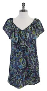Rebecca Taylor short dress Blue Tone Abstract Print on Tradesy