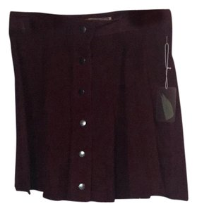 Forever 21 Mini Skirt Burgundy
