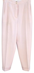 Chanel Designer Vintage 90s Relaxed Pants Cream