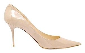Jimmy Choo Stiletto Patent Leather Beige Patent Pumps