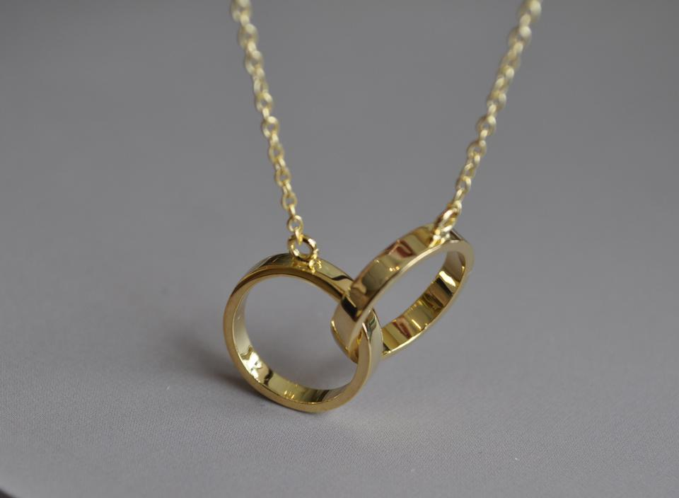 Gold plated silver infinity rings necklace in sterling tradesy infinity rings necklace in sterling silver 1234 aloadofball Choice Image