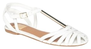 DV by Dolce Vita White Leather Sandals
