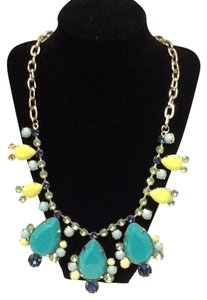Lilly Pulitzer NWOT Lilly Pulitzer Aqua Gold Yellow Necklace $88