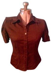 Apt. 9 Cotton Stretch Button Down Shirt Brown