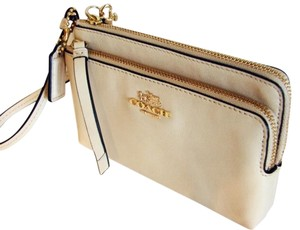 Coach Wristlet in Milk (beige)