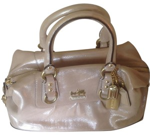 Coach Limited Edition Satchel in Metallic Shimmer Beige