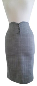 Wet Seal Pencil Skirt Grey plaid